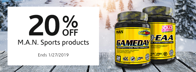 20% Off M.A.N. Sports Products