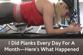 I did planks every day for a month - here's what happened