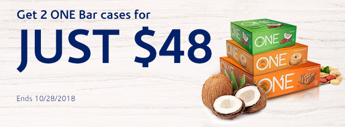 Get 2 ONE Bar cases for just $48