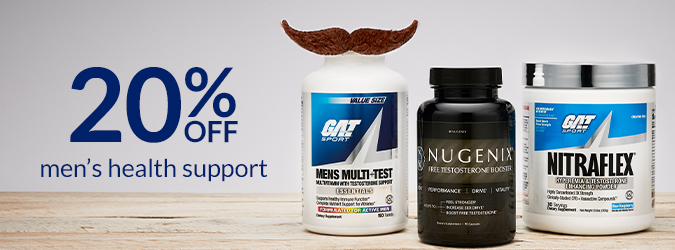 20% Off Men's Health (GAT, Nugenix)