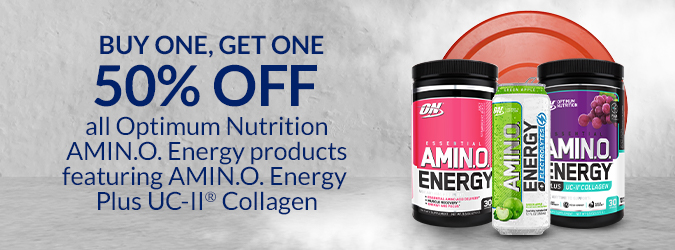 BOGO50 Optimum Nutrition & Amino Energy products