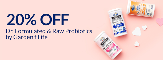20% Off Dr. Formulated & Raw Probiotics by Garden of Life