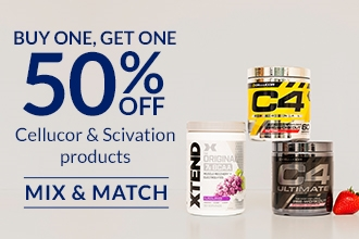BOGO 50% Cellucor / Scivation